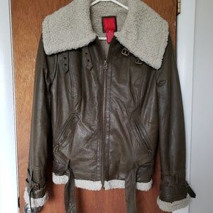 Saks Fifth Avenue Aviation Leather Jacket, Sz M